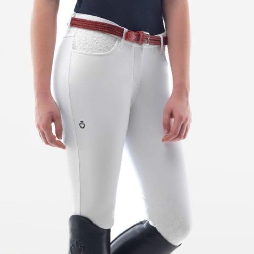 Pantalones knee grip de montar blancos para mujer modelo CT Grip system de Cavalleria Toscana