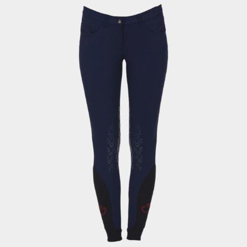 Pantalones knee grip de montar azul marino para mujer modelo New grip system de Cavalleria Toscana