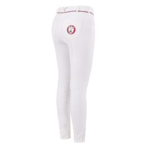 Pantalones con grip en las rodillas blancos para niña modelo Kaila de Kingsland