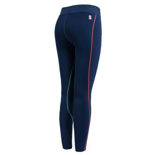 Mallas de compresión knee grip azules para mujer modelo Milos de Kingsland