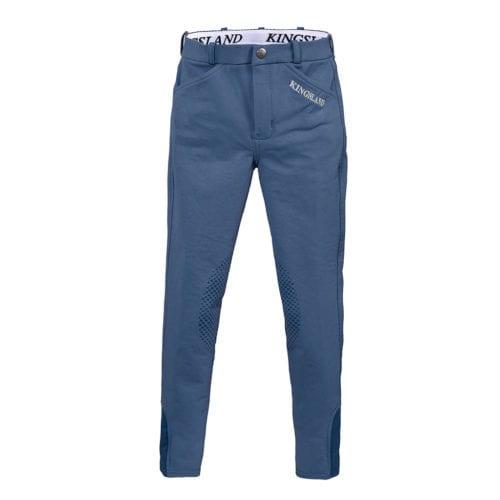 Pantalones knee grip de montar azules para niña modelo Kaila de Kingsland