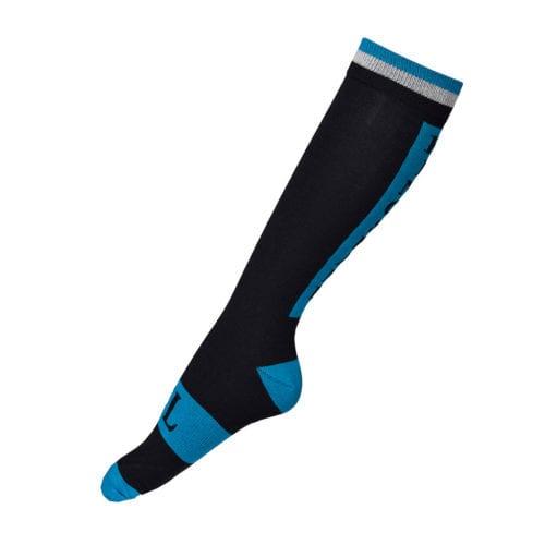 Calcetines coolmax negros con detalles en gris y azul unisex modelo Napf de Kingsland