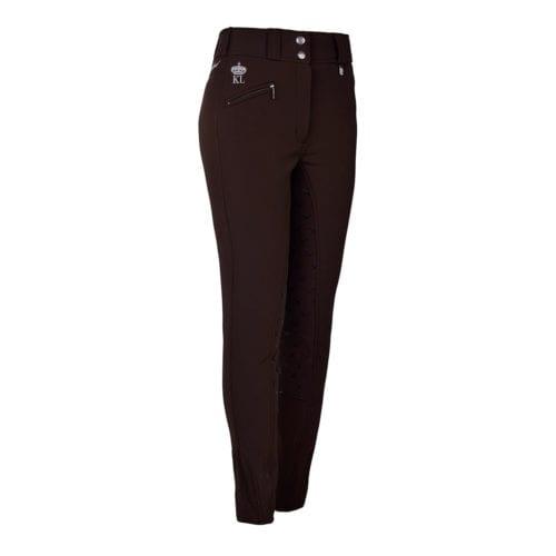 Pantalones full grip de montar marrones para mujer modelo Eliza de Kingsland