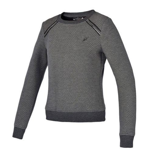 Jersey gris con detalles brillantes en los hombros para mujer modelo Nome de Kingsland
