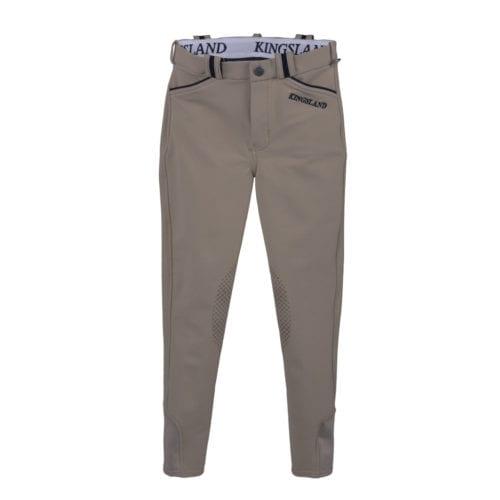 Pantalones knee grip beige de montar junior modelo Kevin de Kingsland