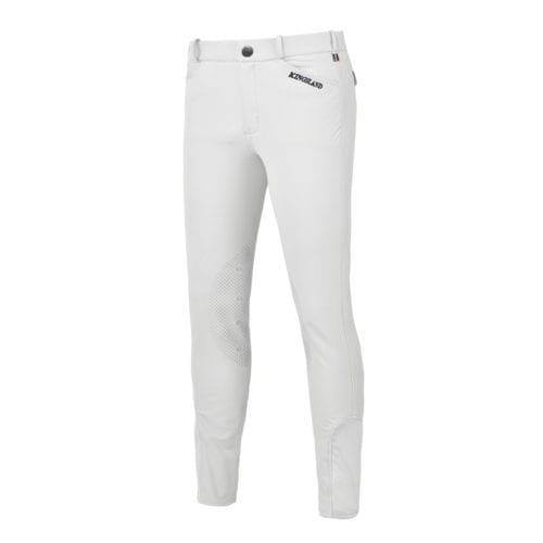 Pantalones con grip en las rodillas blanco para hombre modelo Kenton de Kingsland