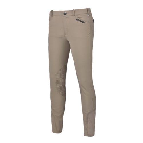 Pantalones con grip en las rodillas kl beige para hombre modelo Kenton de Kingsland