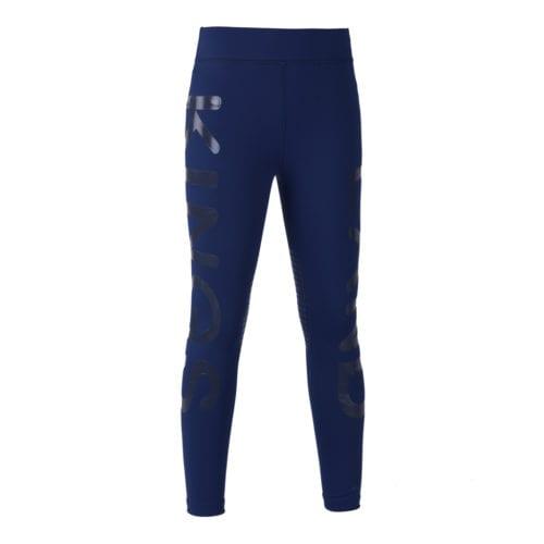 Mallas knee grip de montar azul oscuro para niña modelo Kandy de Kingsland