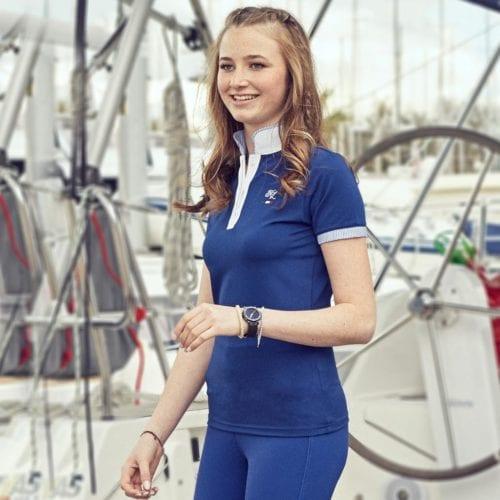 Polo de competición blue depths para mujer modelo Valdosta de Kingsland