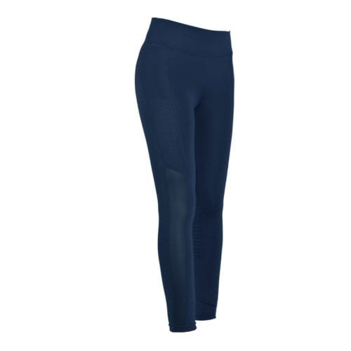 Mallas full grip de montar azules para mujer modelo Ariston de Kingsland