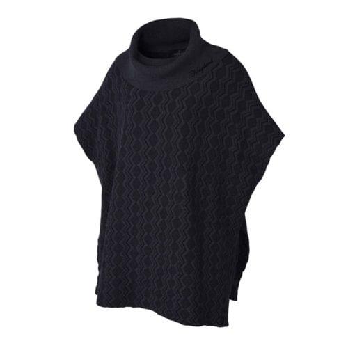 Poncho de lana gris para mujer modelo Blanco de Kingsland
