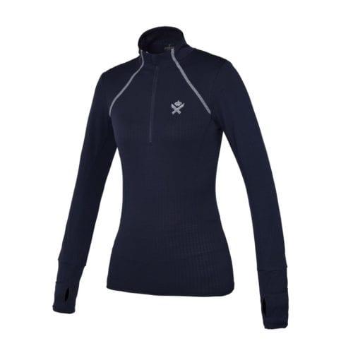 Polo azul marino con cremallera de entrenamiento para mujer modelo Corcovado de Kingsland