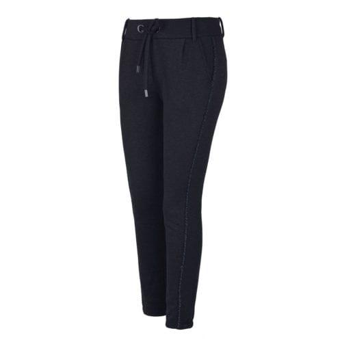 Pantalones de chándal gris oscuro con brillantes para mujer modelo Viedmo de Kingsland