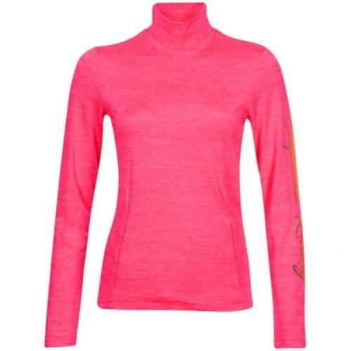 237a1f0b9 Camiseta en tejido técnico fucsia con cuello alto para niña modelo Risk it  de Imperial Riding