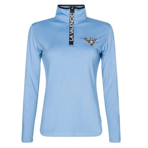 03d03a2a4 Camiseta técnica azul con logo en el pecho para niña modelo Indy jr de La  Valencio