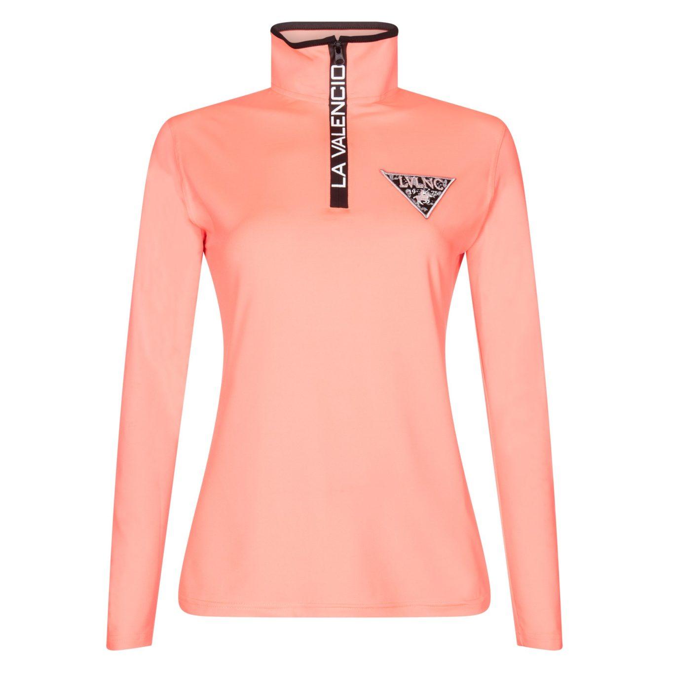 2fb13811c Camiseta técnica naranja fosforito con logo en el pecho para niña ...