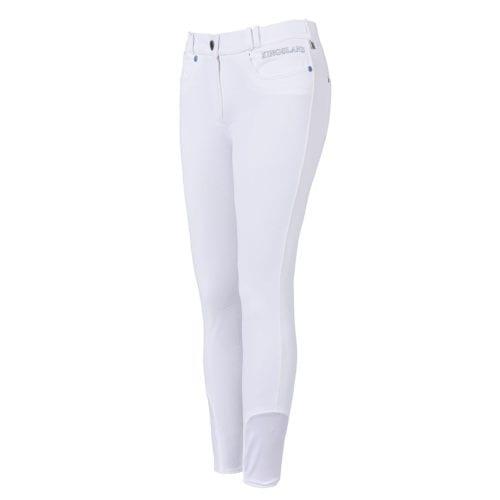 Pantalones con grip en las rodillas blancos para mujer modelo Kessi de Kingsland