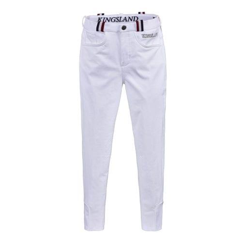 Pantalones knee grip de montar blancos para niña modelo Kaila de Kingsland