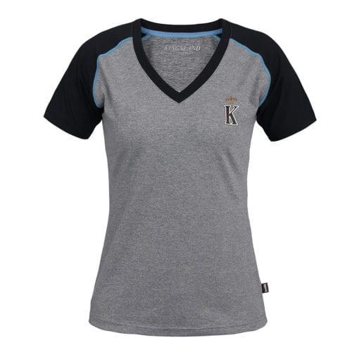 Camiseta con cuello en V para mujer modelo Monterosso Color Azul marino de Kingsland