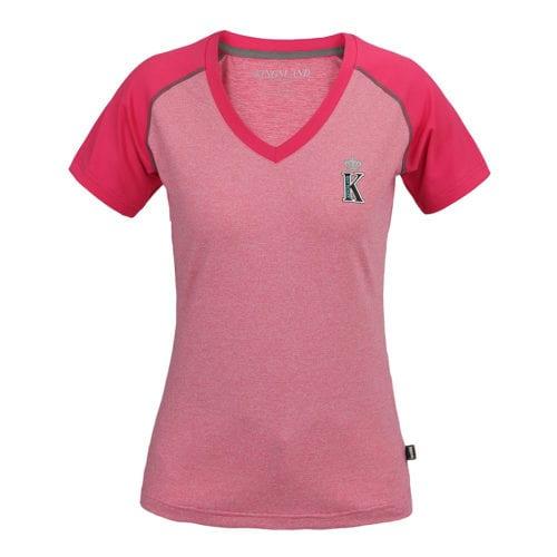 Camiseta con cuello en V para mujer modelo Monterosso Color Rosa de Kingsland