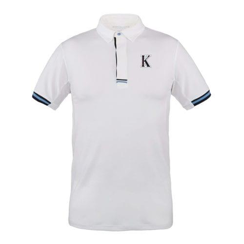 Polo de competición para hombre modelo Fezzano Color Blanco de Kingsland