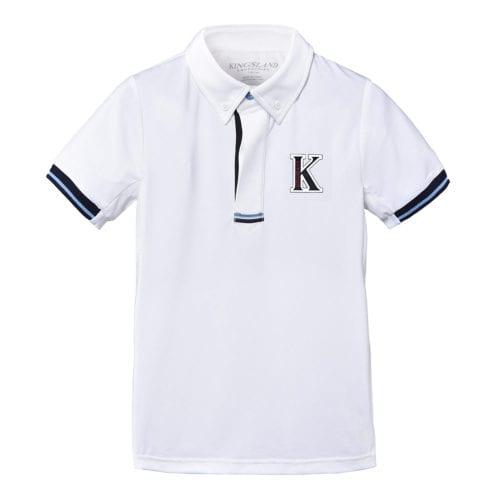 Polo de competición para niño modelo Camedone Color Blanco de Kingsland