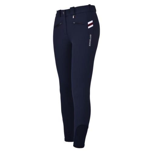 Pantalones con grip en las rodillas azul marino para mujer modelo Kessi de Kingsland