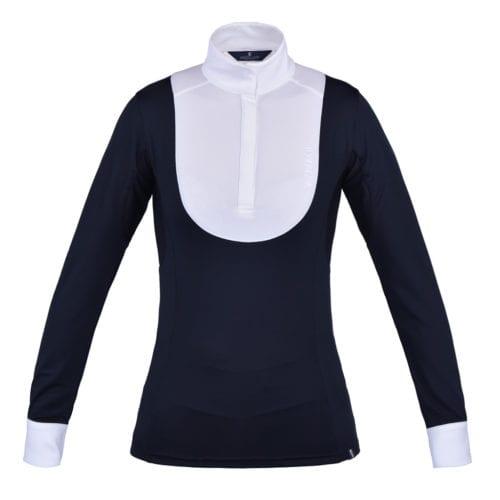 Camisa de competición de manga larga azul marino para mujer modelo June de Kingsland