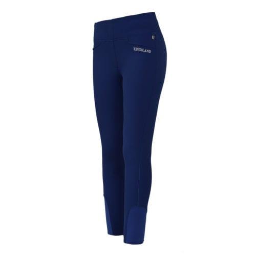 Pantalones con grip en las rodillas azul para mujer modelo Katja de Kingsland