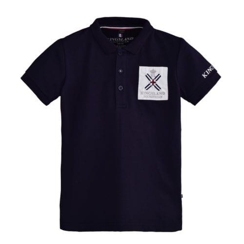 Polo manga corta de algodón para junior modelo Sapelo Color Azul marino de Kingsland