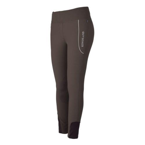 Pantalones de montar con grip en las rodillas marrón para mujer modelo Katja de Kingsland