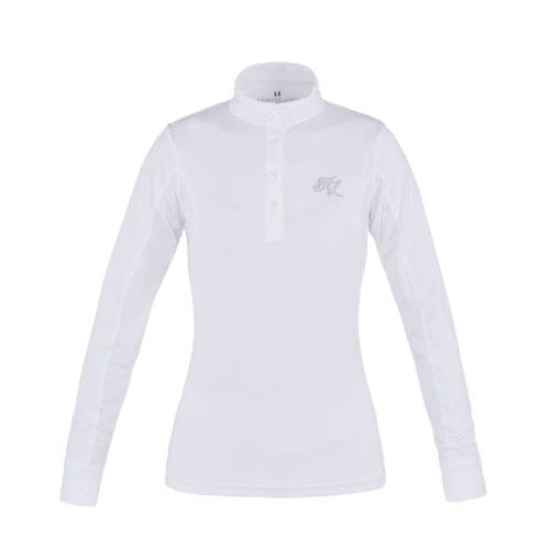 Camisa de competición de manga larga blanco para mujer modelo Mimi de Kingsland