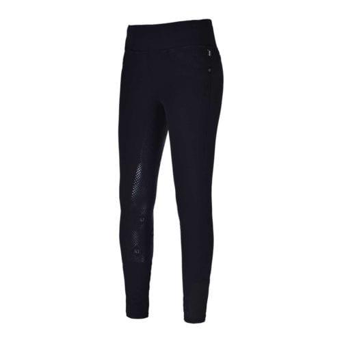 Pantalones con grip en las rodillas negro para mujer modelo Katja de Kingsland