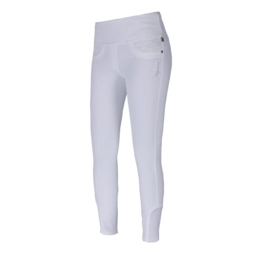 Pantalones con grip en las rodillas blanco para mujer modelo Katja de Kingsland