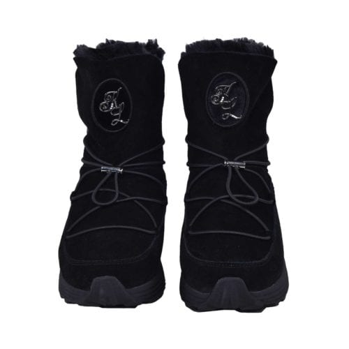 Botas de cuero para mujer modelo Myla Color Negro de Kingsland