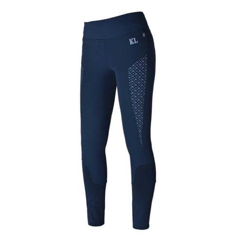 Pantalones con grip en las rodillas azul marino para mujer modelo Katja de Kingsland