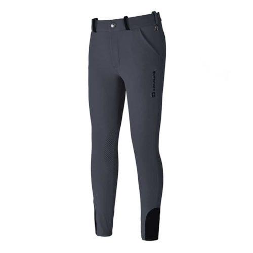 Pantalones con grip en las rodillas azul marino para niño modelo Kevin de Kingsland