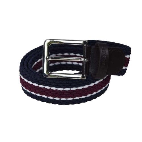 Cinturón azul marino/granate unisex modelo Tende de Kingsland