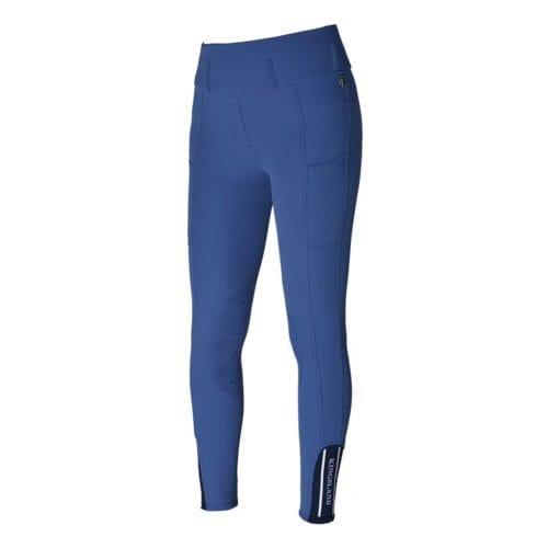 Pantalones de montar con grip en las rodillas azul para mujer modelo Katja de Kingsland