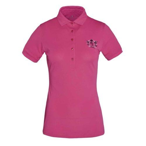 Polo técnico rosa para mujer modelo Trayas de Kingsland