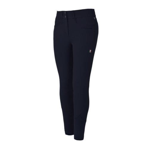 Pantalones full grip azul marino para mujer modelo Kadi de Kingsland
