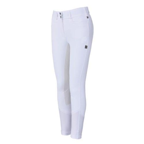Pantalones con culera de piel blancos para mujer modelo Kirstie de Kingsland