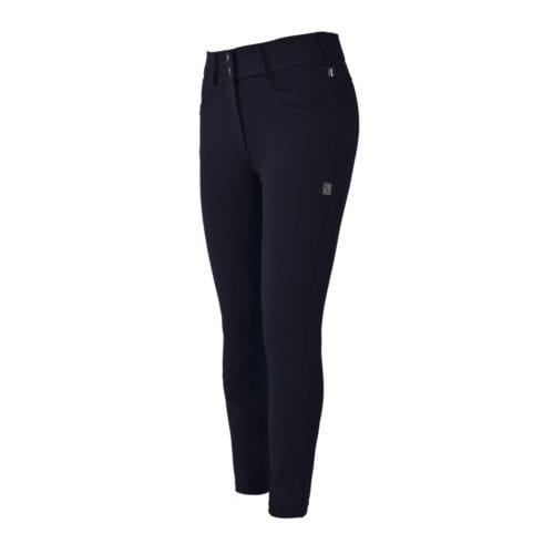 Pantalones con culera de piel azul marino para mujer modelo Kirstie de Kingsland