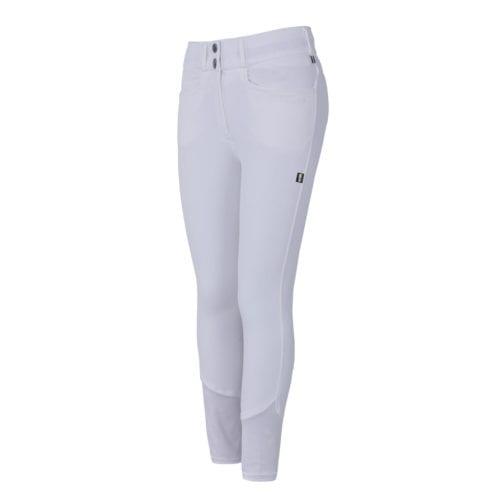 Pantalones con grip en las rodillas blancos para mujer modelo Kadi de Kingsland
