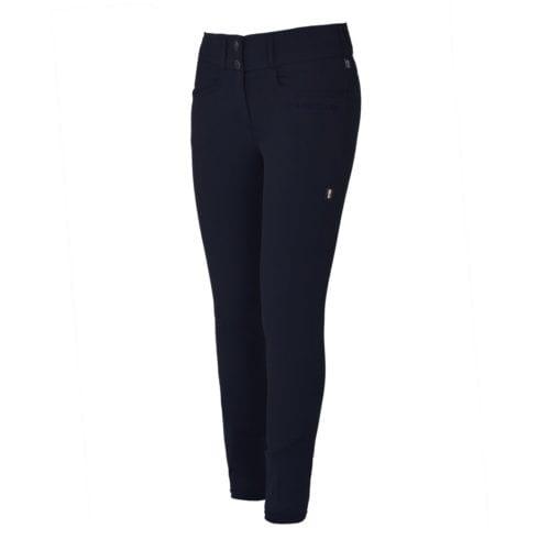 Pantalones con grip en las rodillas azul marino para mujer modelo Kadi de Kingsland