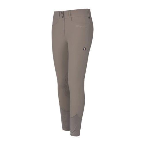 Pantalones con grip en las rodillas beige para mujer modelo Kadi de Kingsland