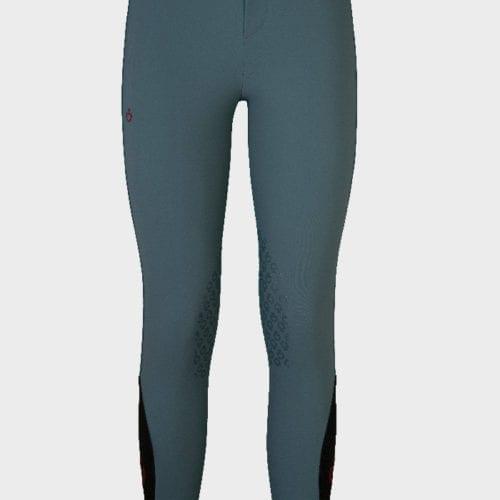 Pantalones con grip en las rodillas para junior Color Verde de Cavalleria Toscana
