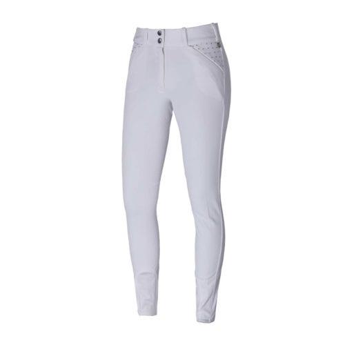 Pantalones full-grip blancos para mujero modelo Kadi de Kingsland