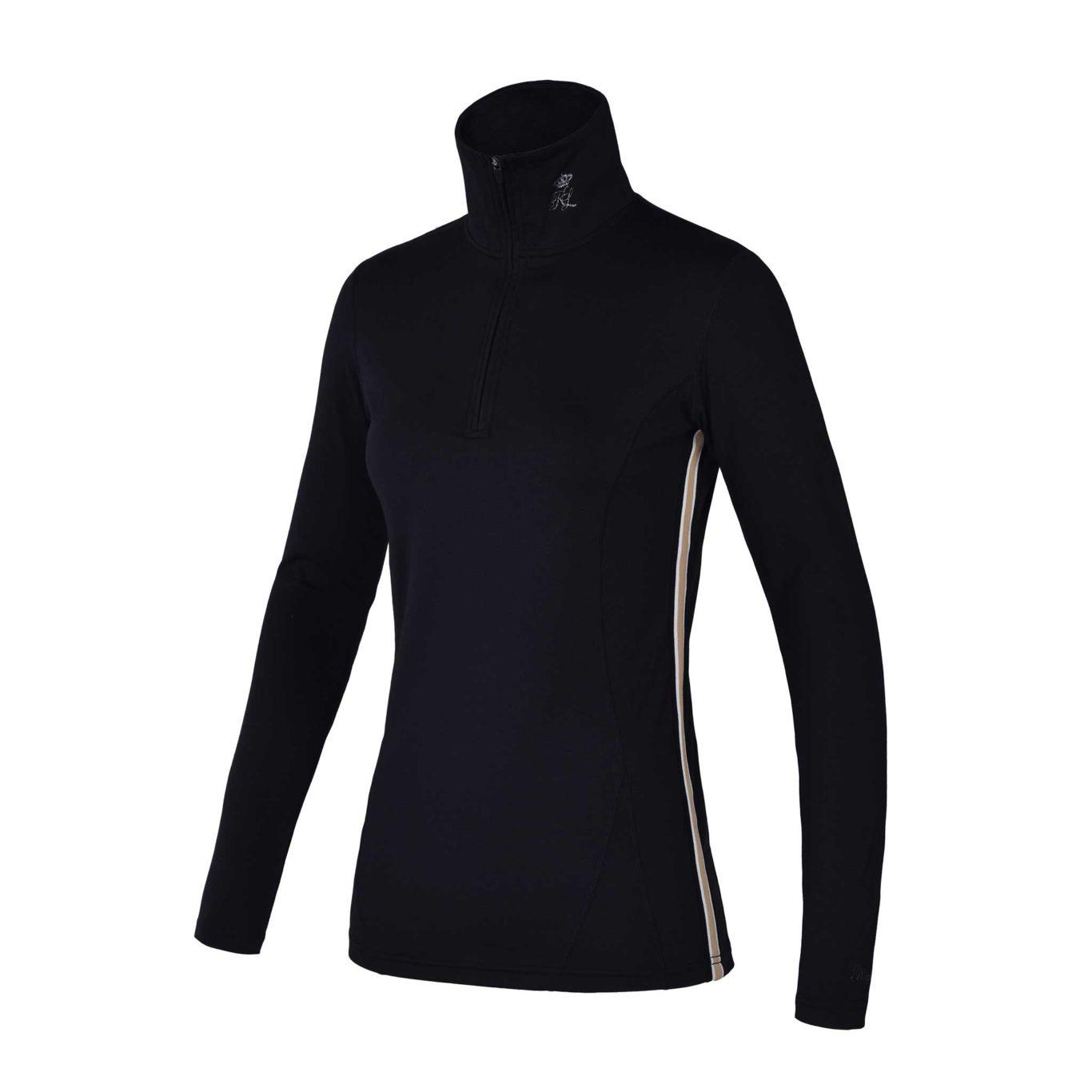 Camiseta de entrenamiento negra para mujer modelo Lotaki de Kingsland