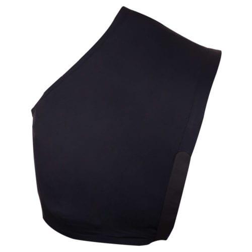 Camiseta de licra protector de pecho y cruz para mantas modelo Classic Color Negro de BR